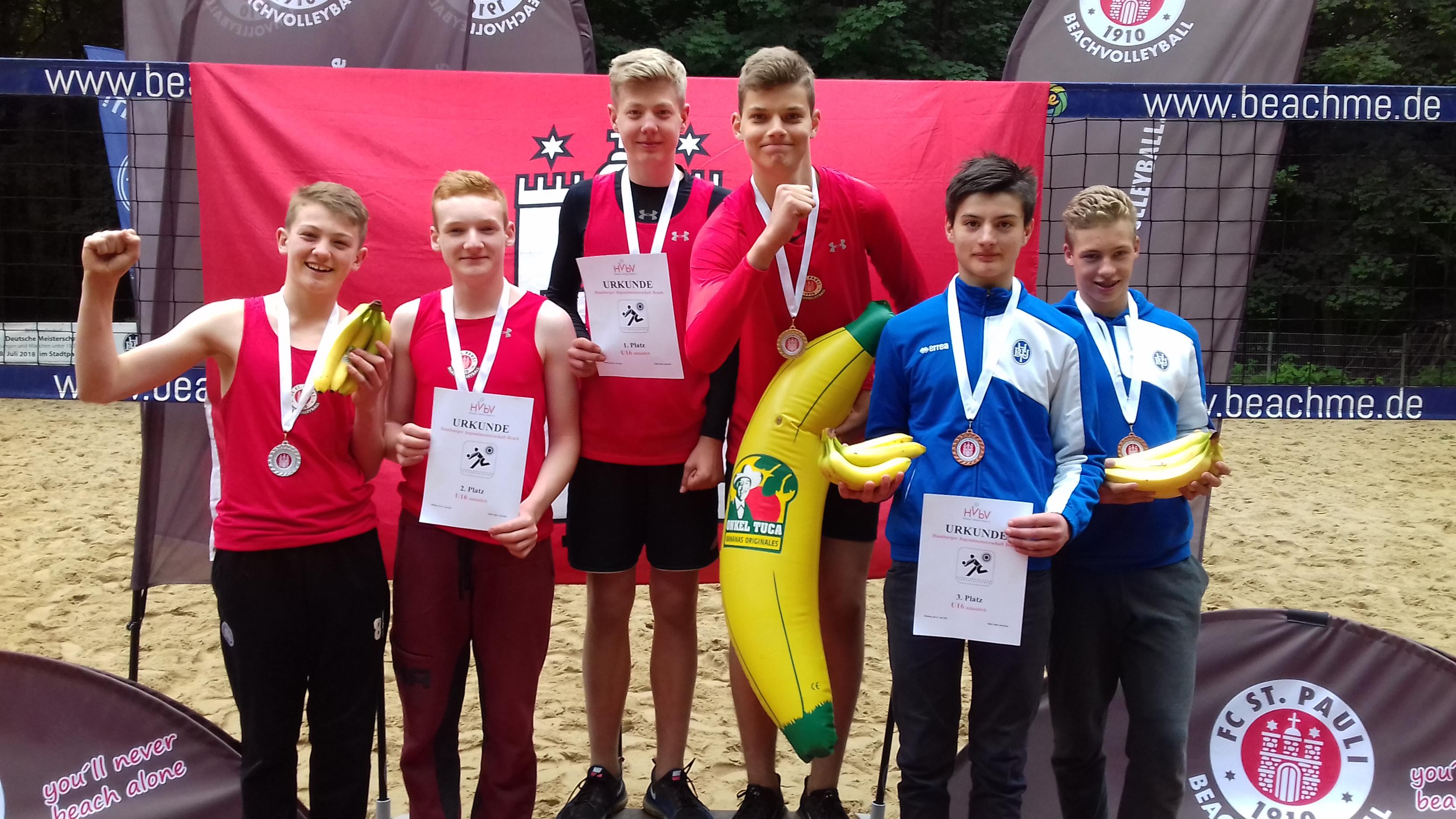 3xGold & 3xSilber: Beachvolleyballer räumen bei Juniorenmeisterschaft ab