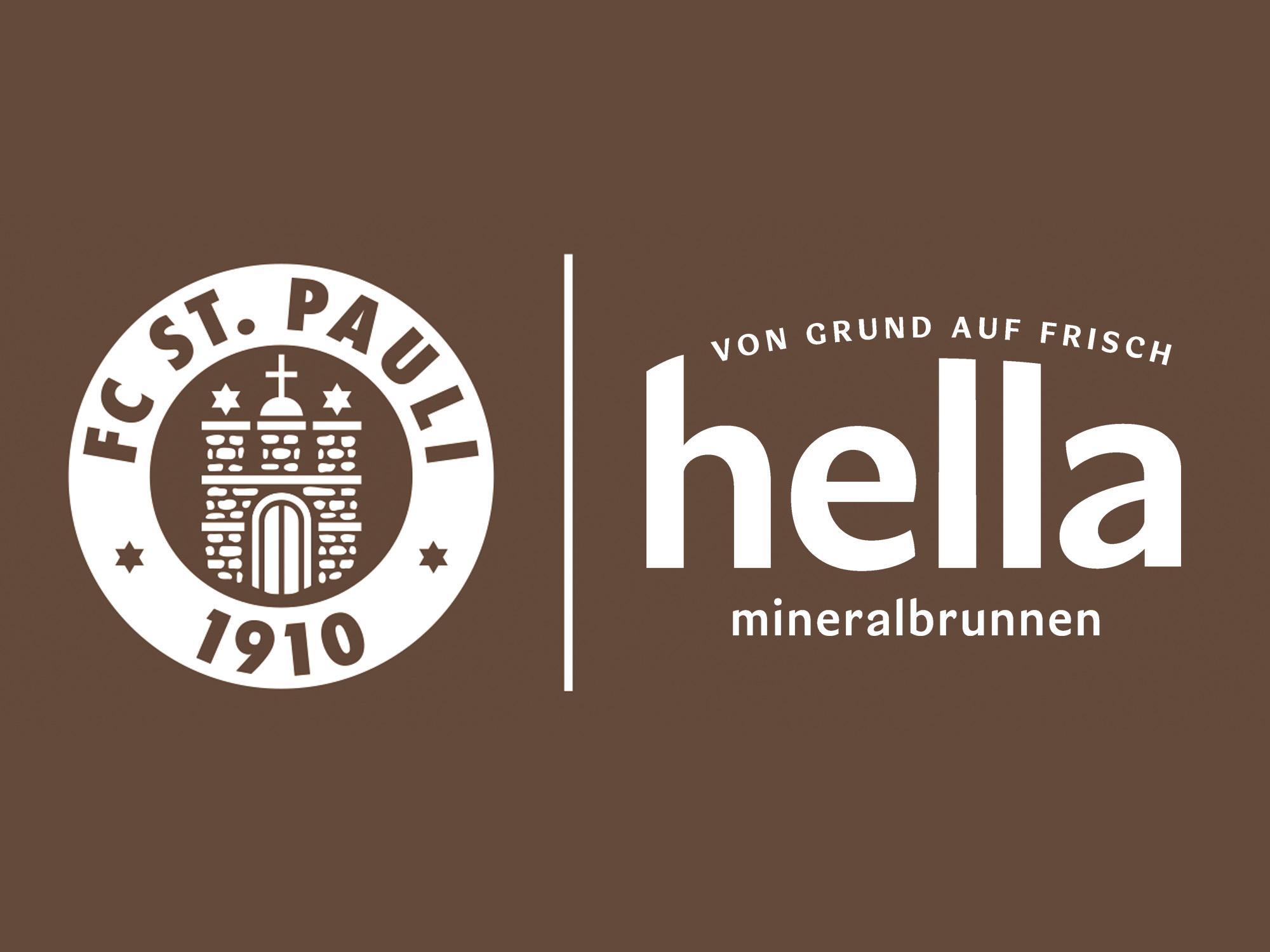 FC St. Pauli verlängert die Partnerschaft mit hella Mineralbrunnen bis 2021