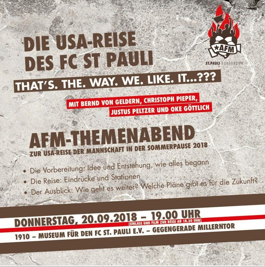 AfM-Themenabend: Die USA-Reise des FC St. Pauli