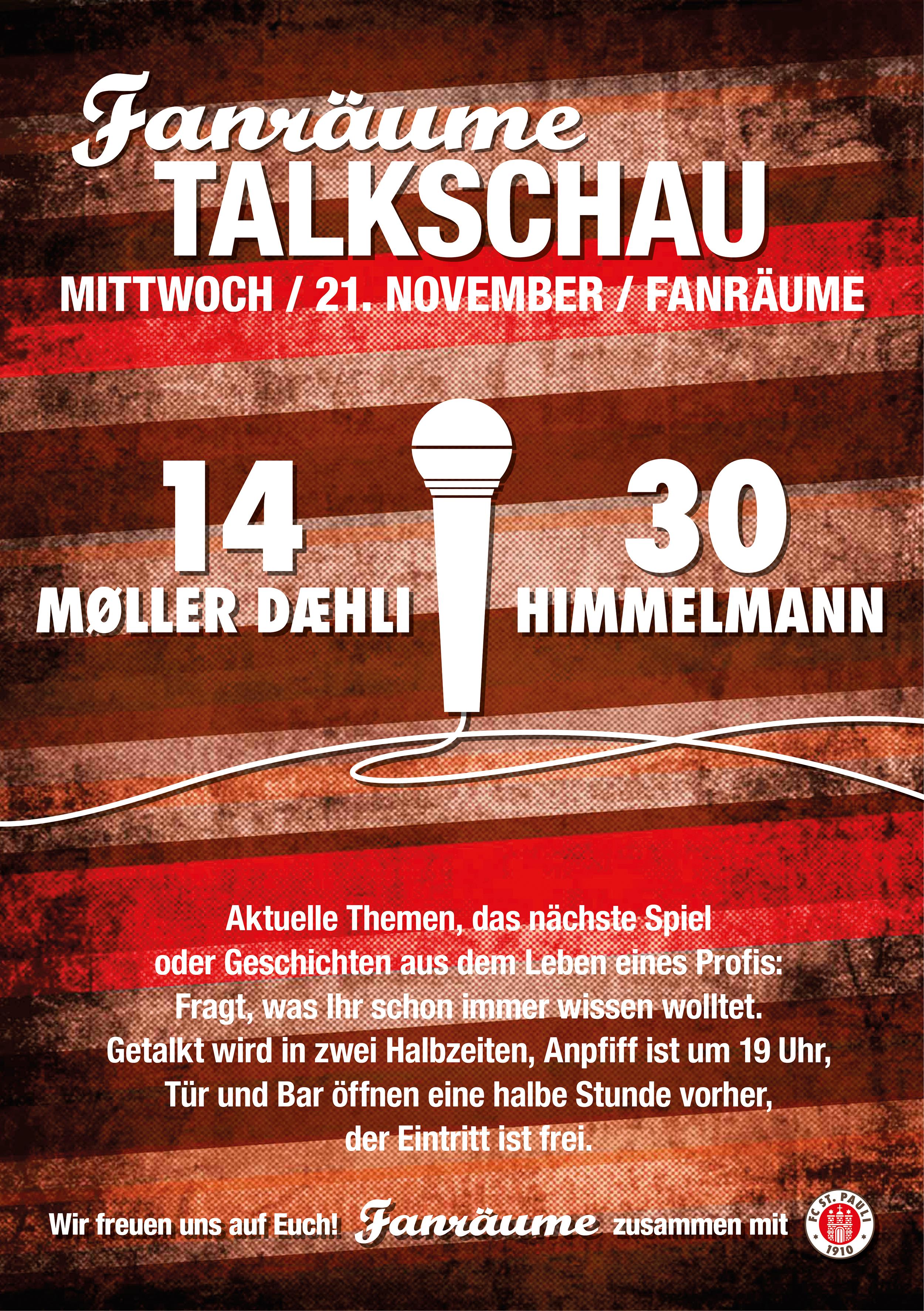 Fanräume Talkschau mit Himmelmann und Møller Dæhli