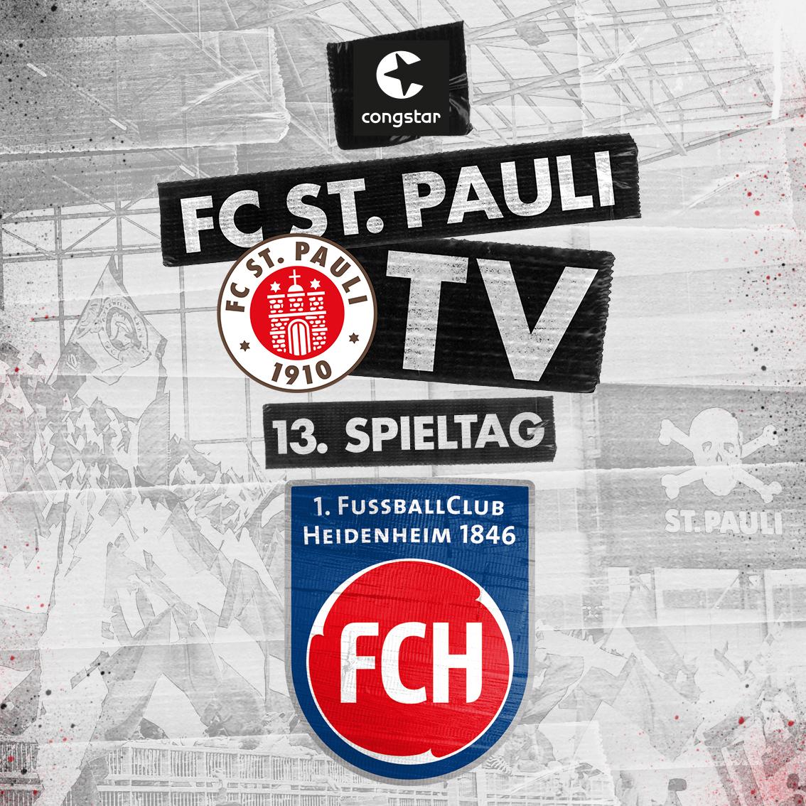 FC St. Pauli TV live - unsere Heimspielsendung gegen Heidenheim