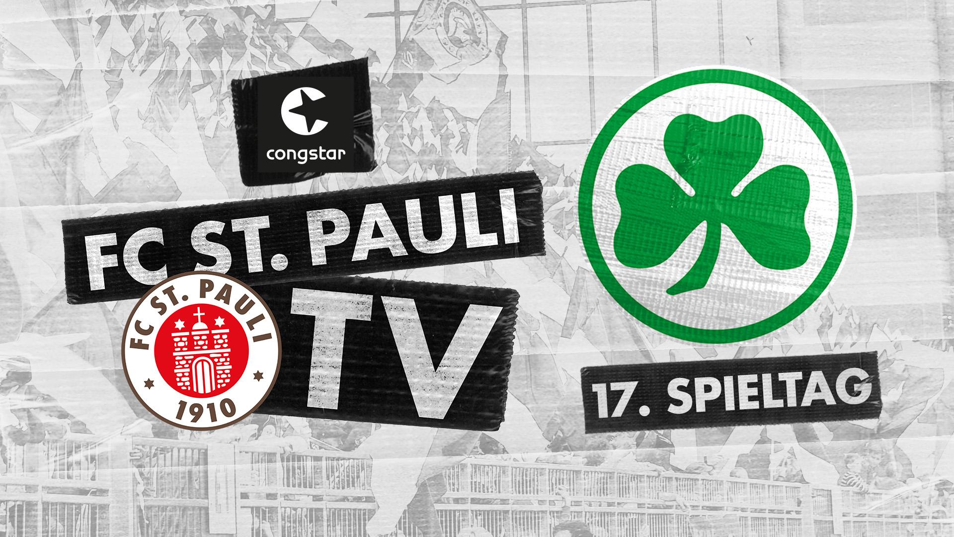 FC St. Pauli TV live - unsere Heimspielsendung gegen Fürth