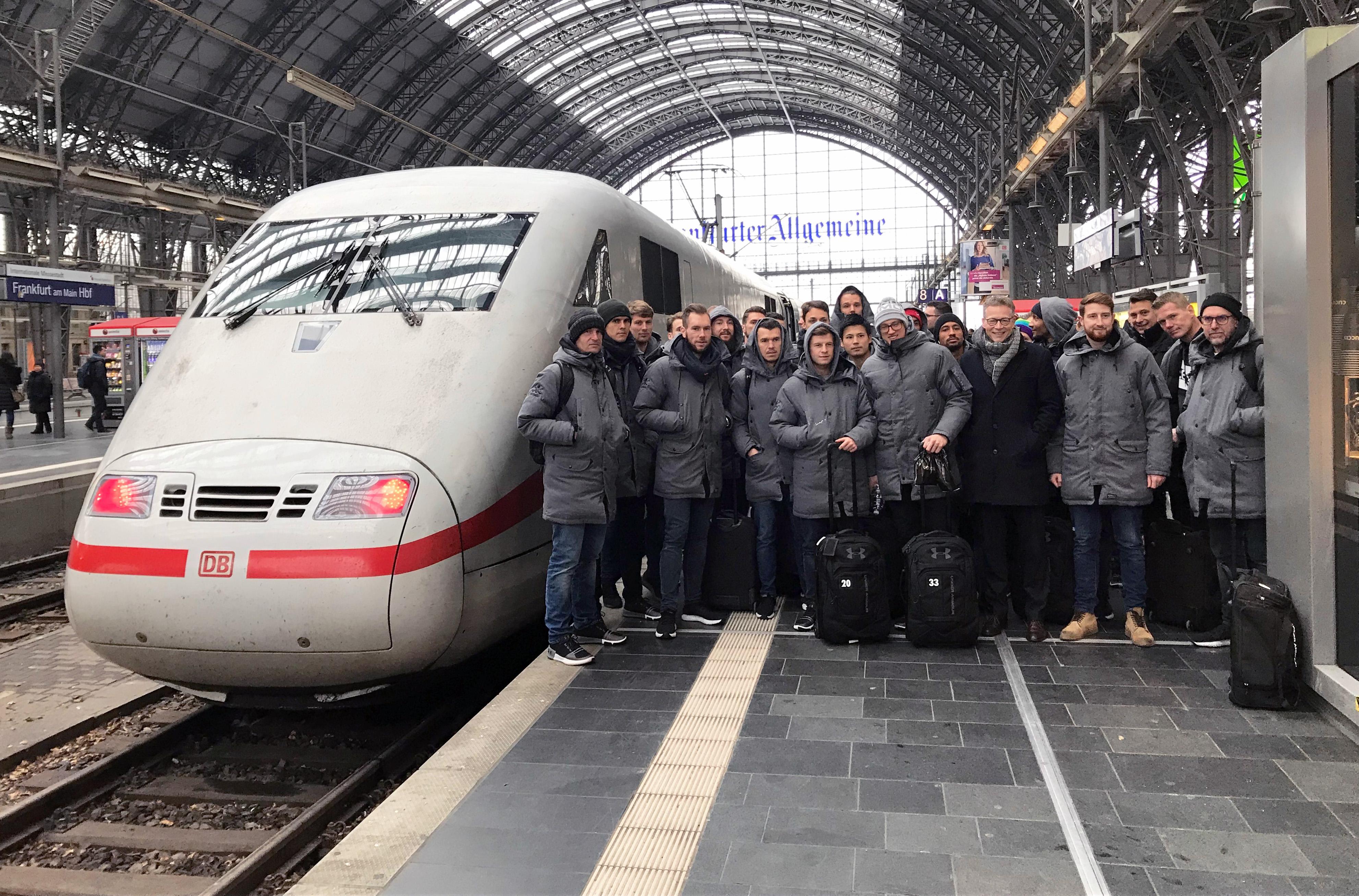 Gute Umweltbilanz durch Auswärtsfahrten mit der Deutschen Bahn