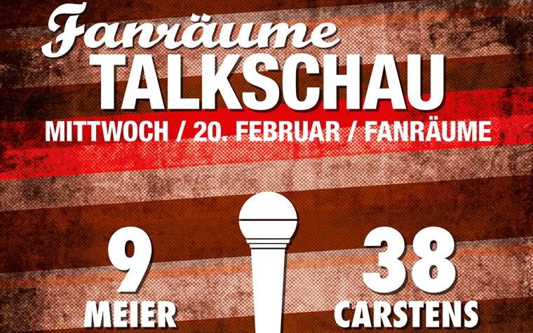 Mittwoch (20.2.): Fanräume Talkschau mit Alex Meier & Florian Carstens