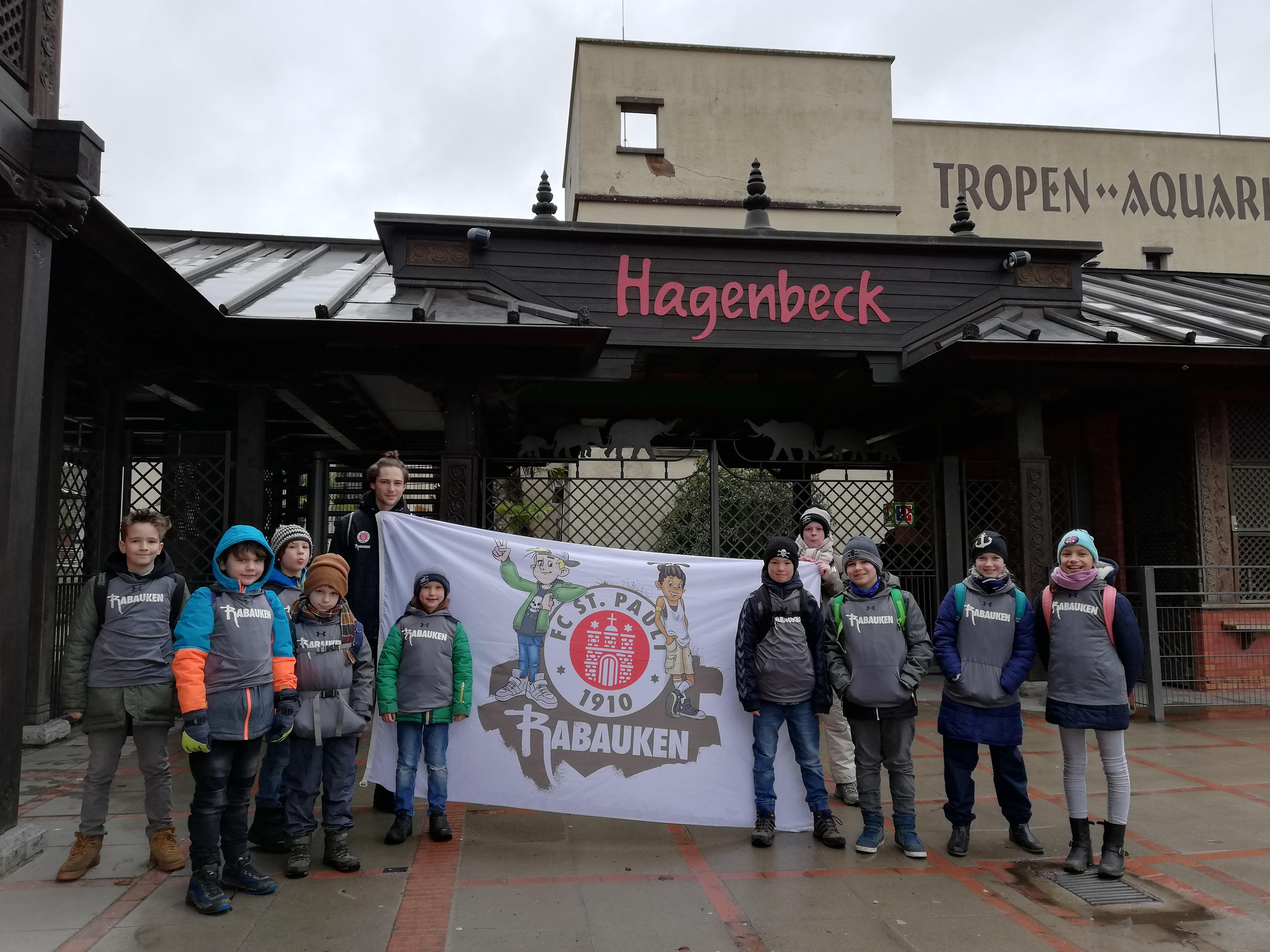 Rabauken als Polarforscher im Tierpark Hagenbeck