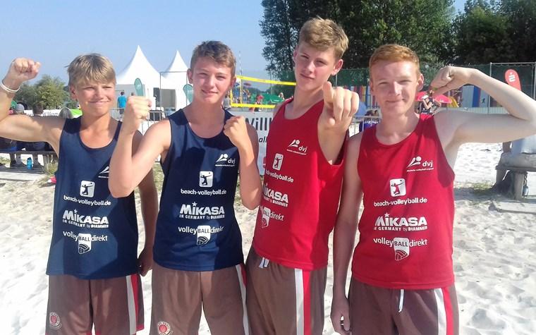 Magdeburg ist braun-weiß: Unsere Beachvolleyballer bei der Deutschen U18-Meisterschaft