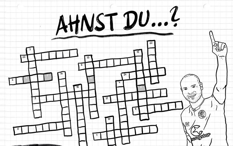 Ahnst Du...? Neues FCSP-Kreuzworträtsel als Wachmacher für Zuhause