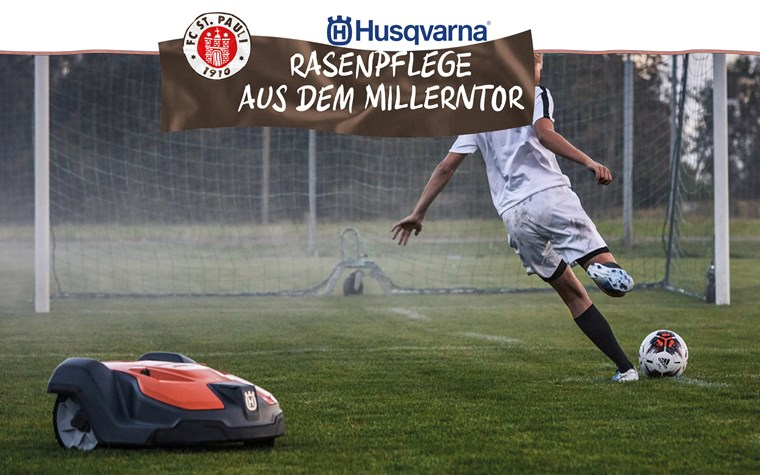 Husqvarna gibt Sportvereinen Tipps und Einblicke zum Thema Rasenpflege