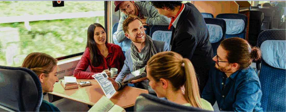 Die Deutsche Bahn wirbt für den Sparpreis Gruppe