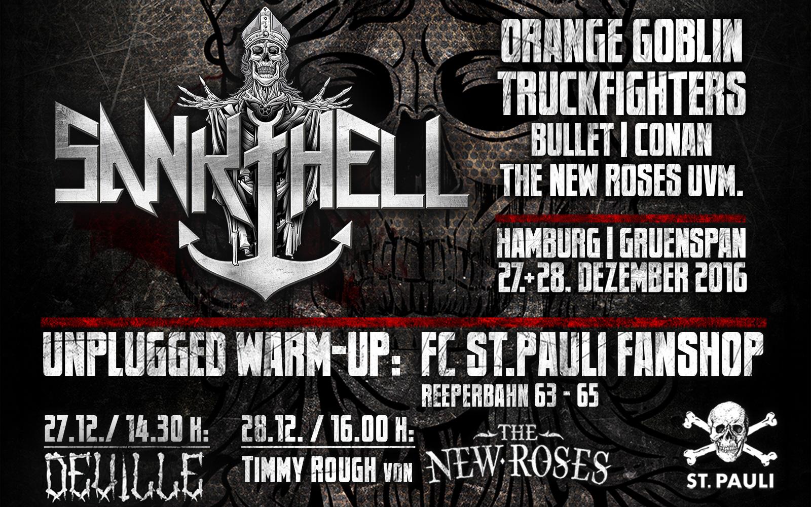 Sankt Hell Festival zu Gast im Fanshop Reeperbahn