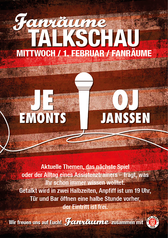 Fanräume Talkschau mit Olaf Janßen und Janosch Emonts
