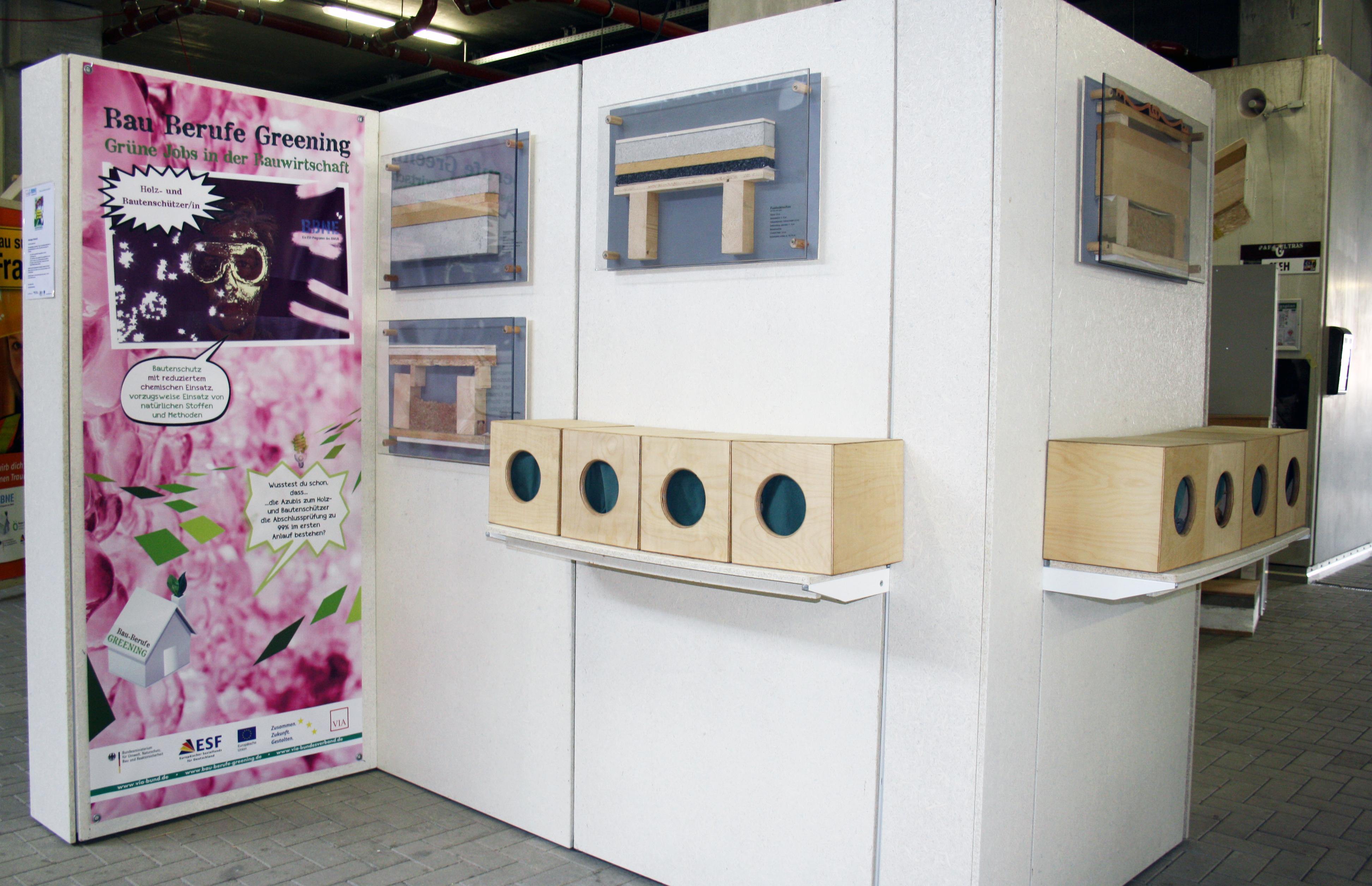 Bauberufe-Ausstellung für Jugendliche in der Nordtribüne