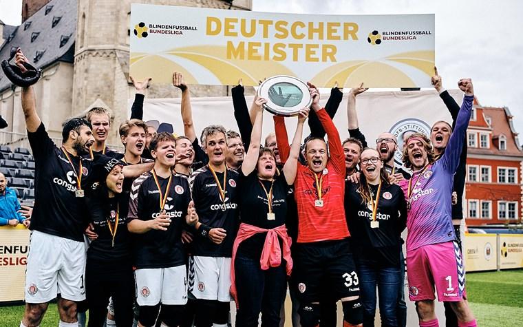 Blindenfußballer spielen in Saarbrücken um den Titel - Endspiel gegen Marburg