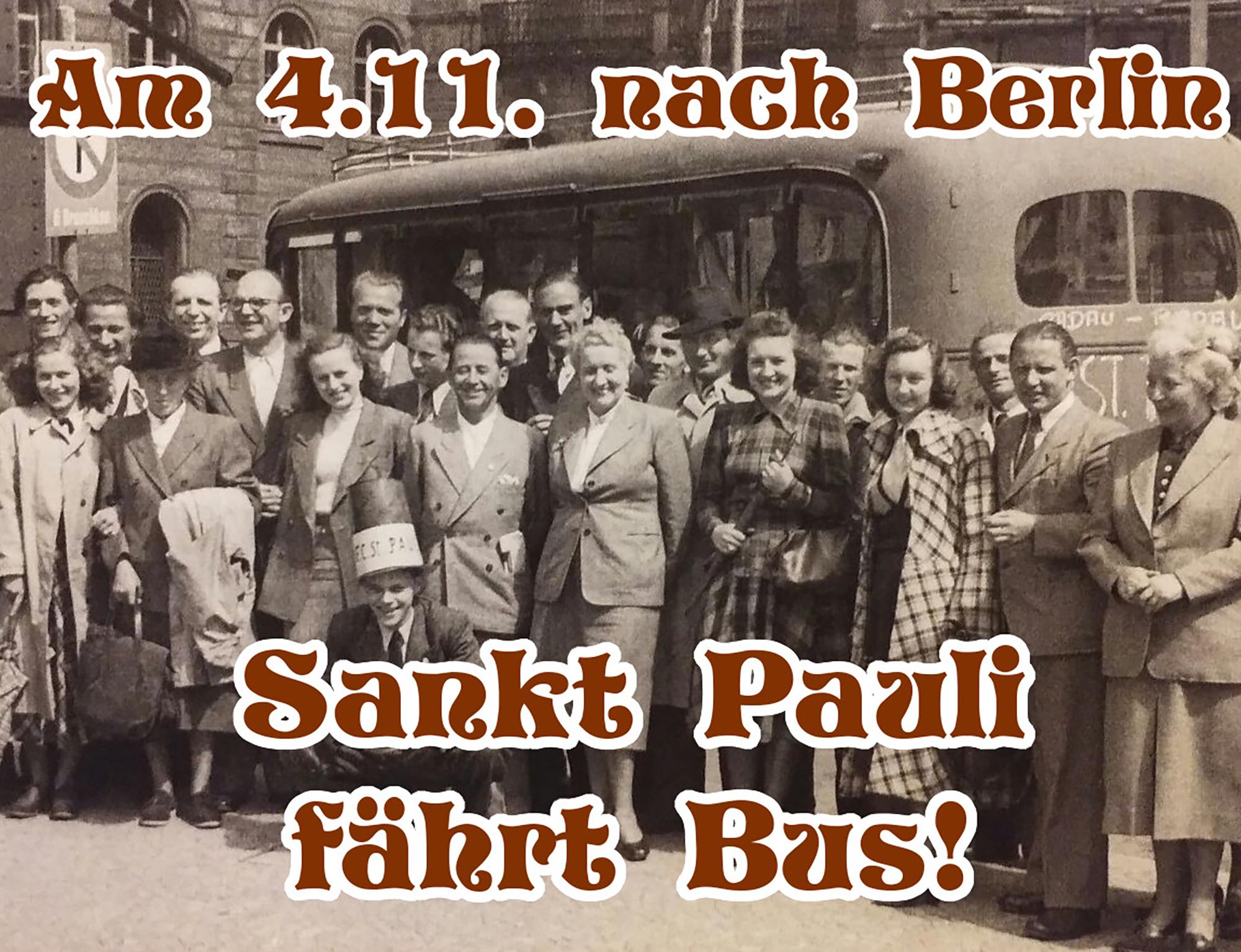 Ultrà Sankt Pauli ruft zu gemeinsamer Fanszenen-Tour nach Berlin auf