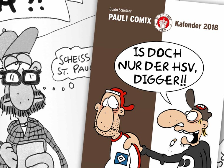 schr ters comic kalender im fcsp fanshop fc st pauli. Black Bedroom Furniture Sets. Home Design Ideas