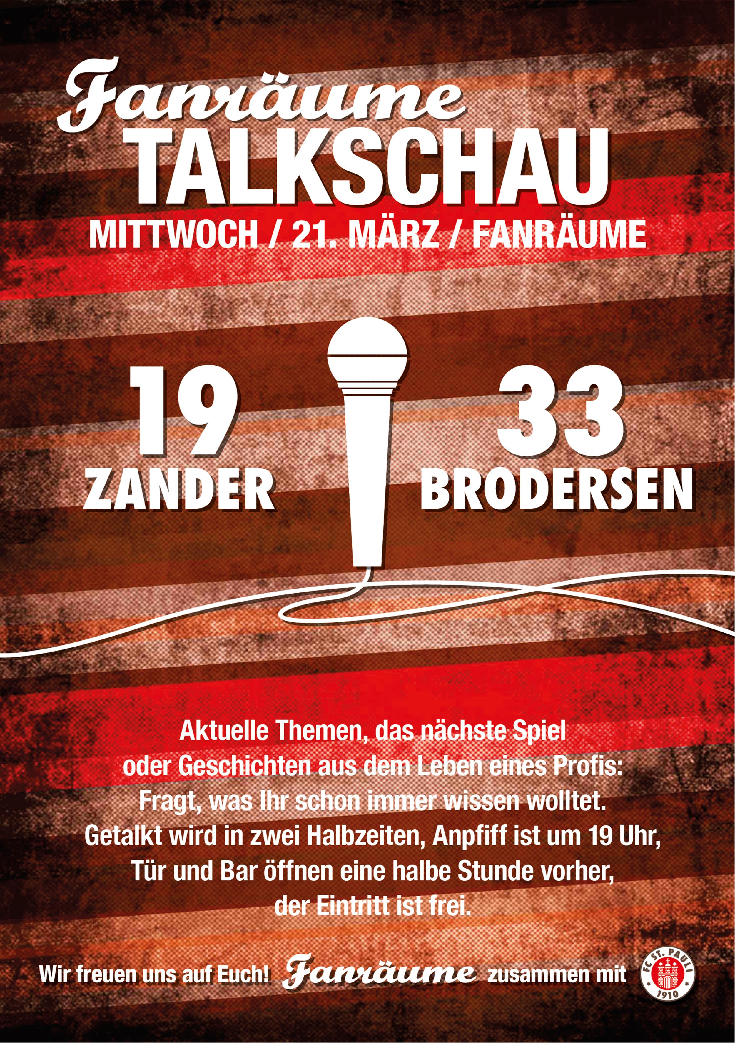 Fanräume Talkschau Vol. 26 mit Brodersen und Zander