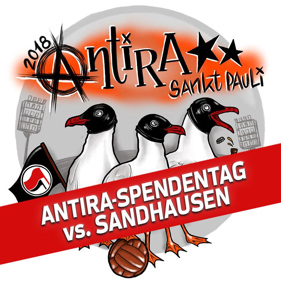Antira-Spendentag beim Heimspiel gegen den SV Sandhausen