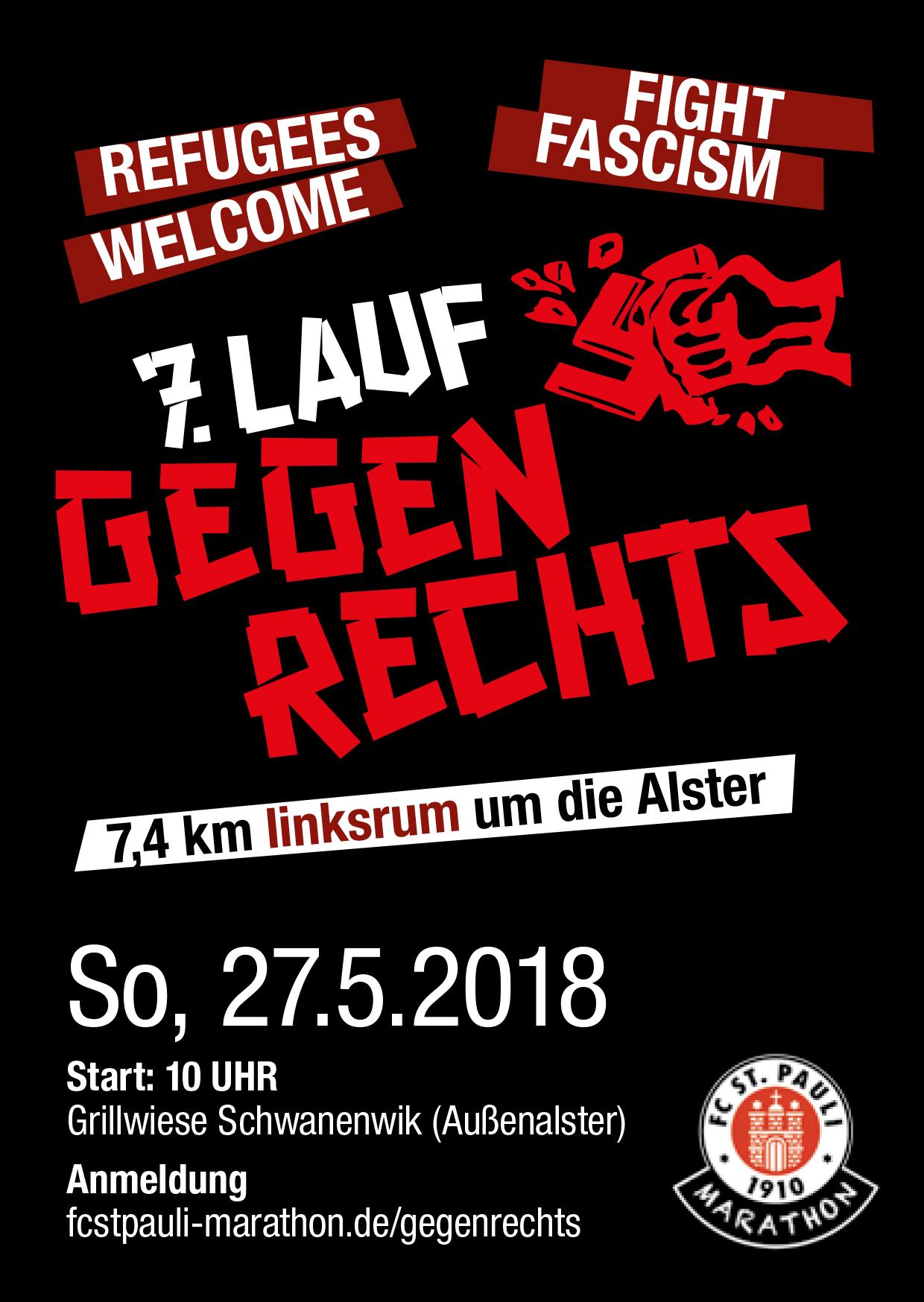 Marathon-Abteilung ruft zu einem Zeichen  gegen rassistische Hetze, Rechtspopulismus und Faschismus auf !