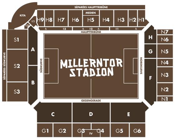 Millerntor Stadionplan