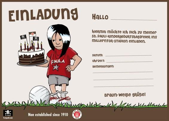 fc st Pauli kindergeburtstage einladungskarge