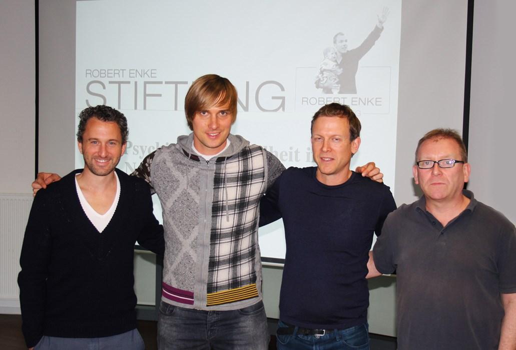 V.l.n.r.: Roger Stilz, Martin Amedick, Ronald Reng und Claus Teister