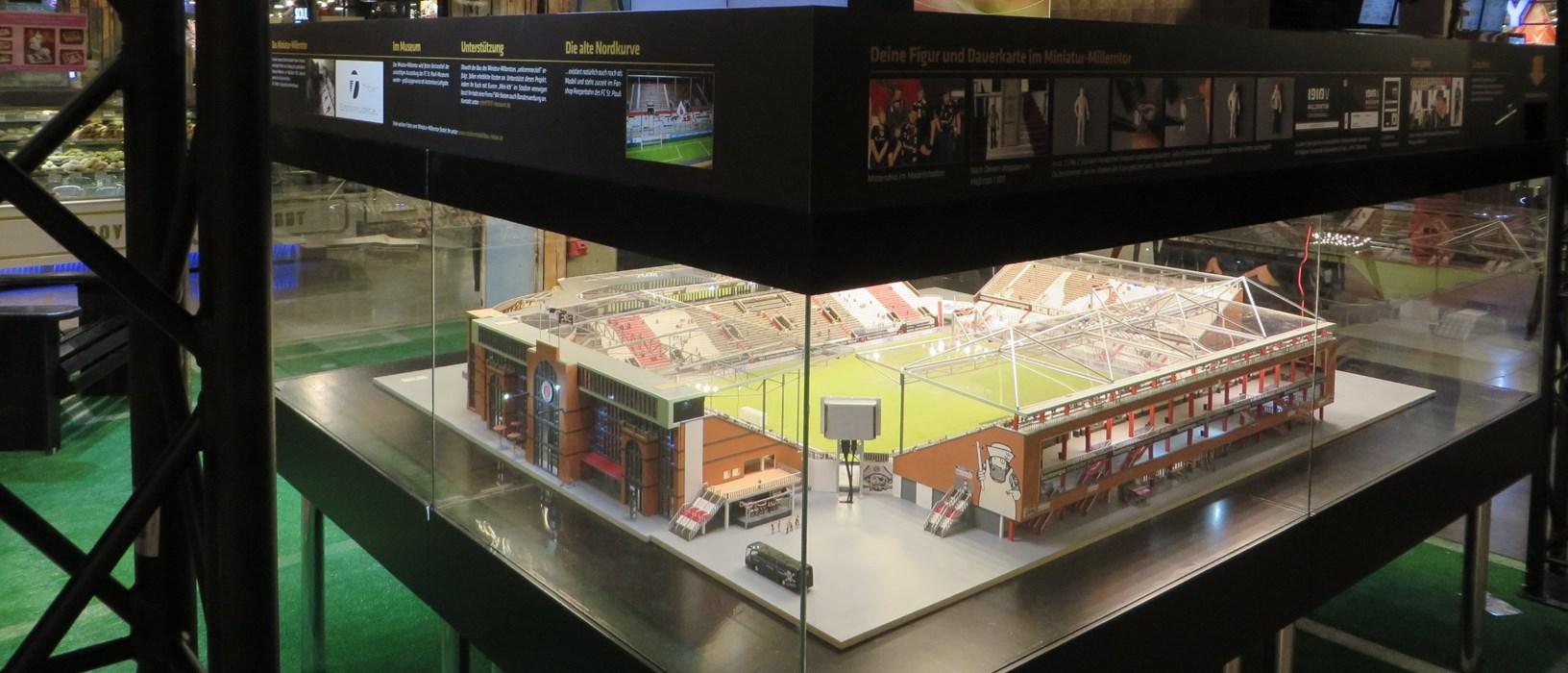 Das Miniatur-Millerntor in der Rindermartkhalle St. Pauli