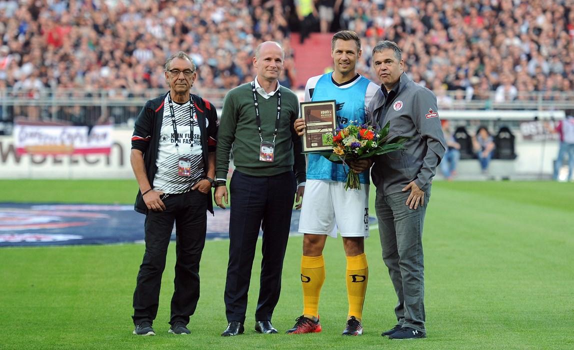Danke für die tollen Jahre am Millerntor! Sören Gonther verließ die Kiezkicker in der Sommerpause zum heutigen Gegner von der SG Dynamo Dresden.