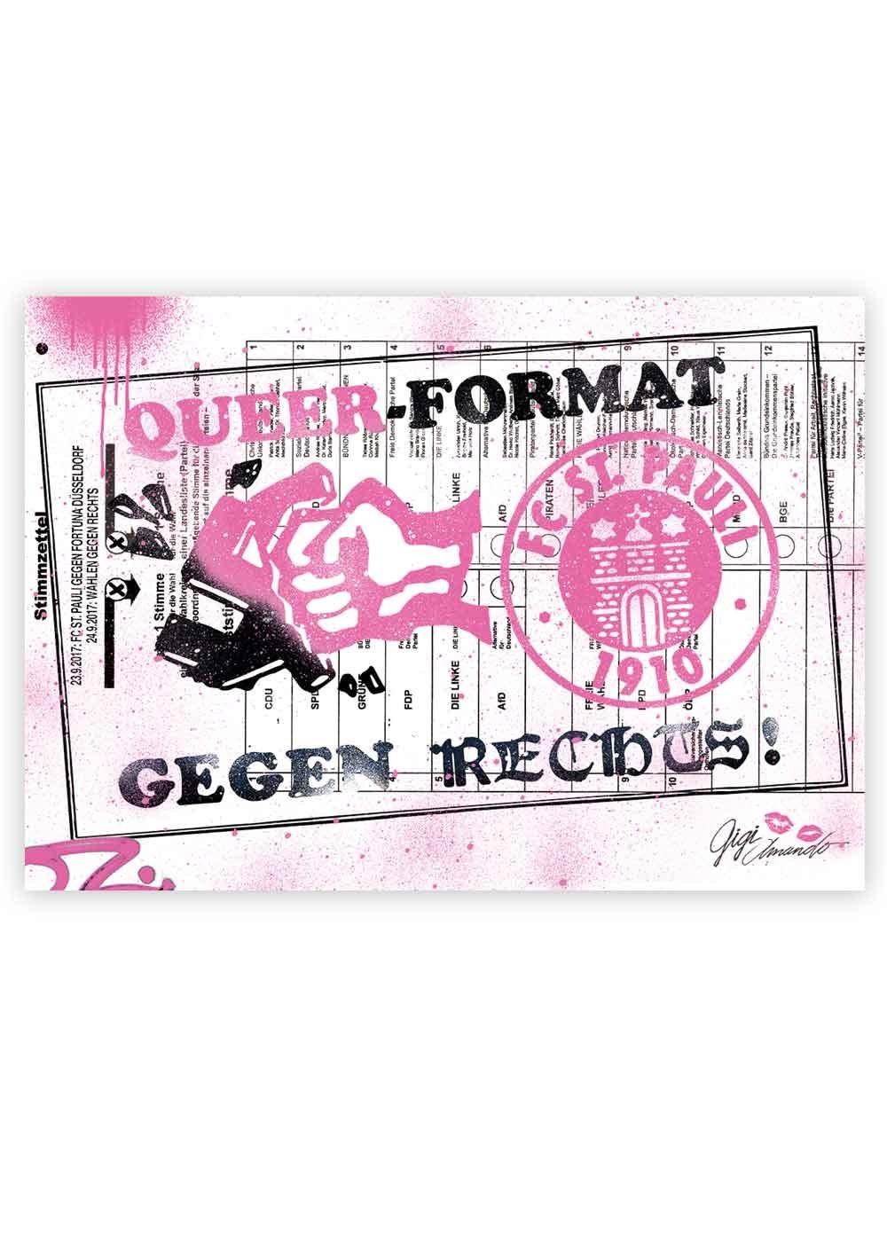 Der Kunstdruck zum Heimspiel gegen Fortuna Düsseldorf