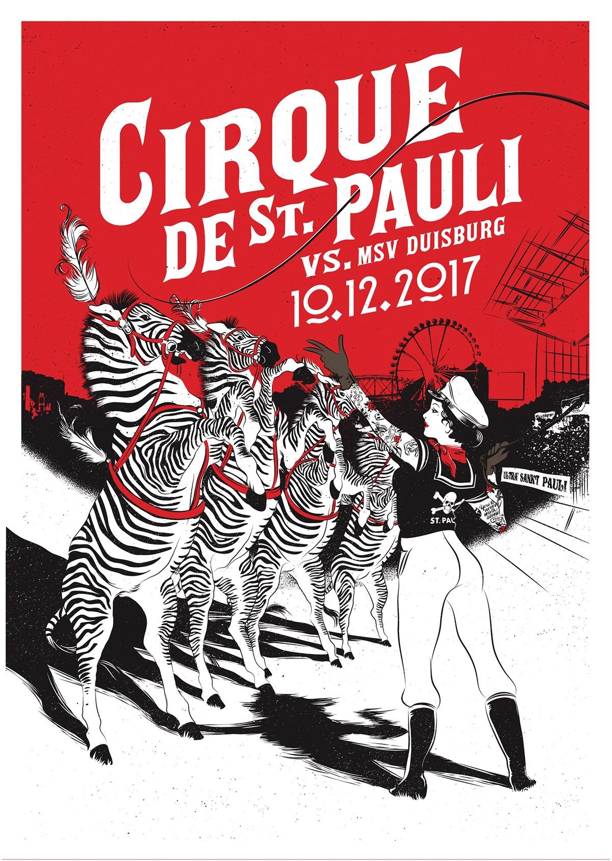 Der Kunstdruck von Mareikje Vogler zum Spiel gegen die Zebras.