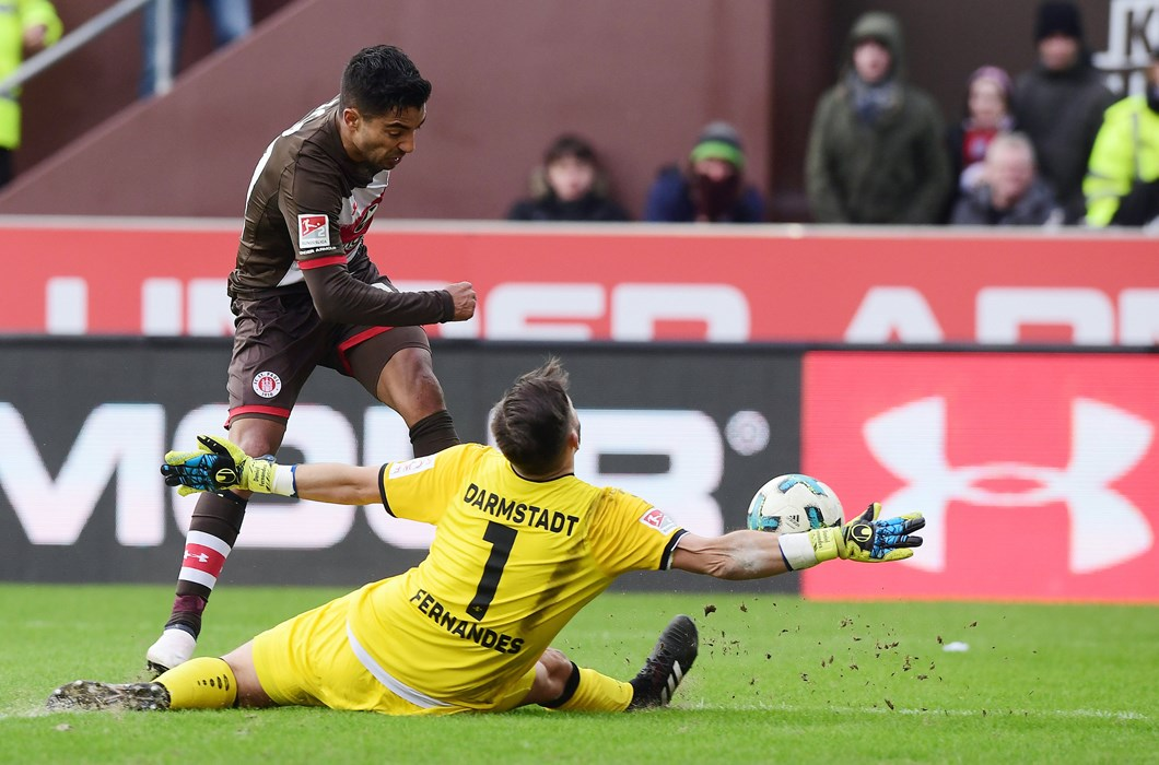 Frustratingly, the Boys in Brown created enough chances, but it was Darmstadt who led at the break.