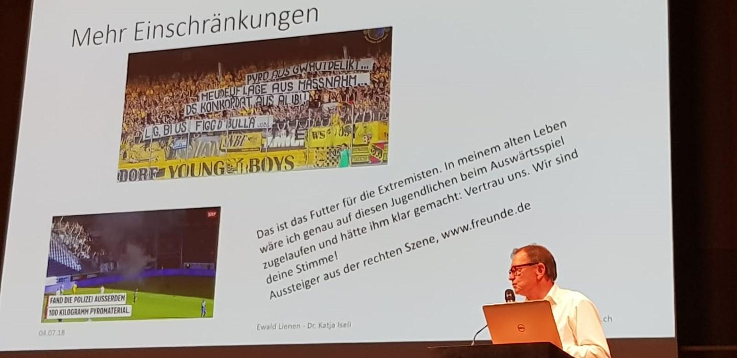 Ewald Lienen bei der 9. Schweizer Fachtagung Jugendgewalt