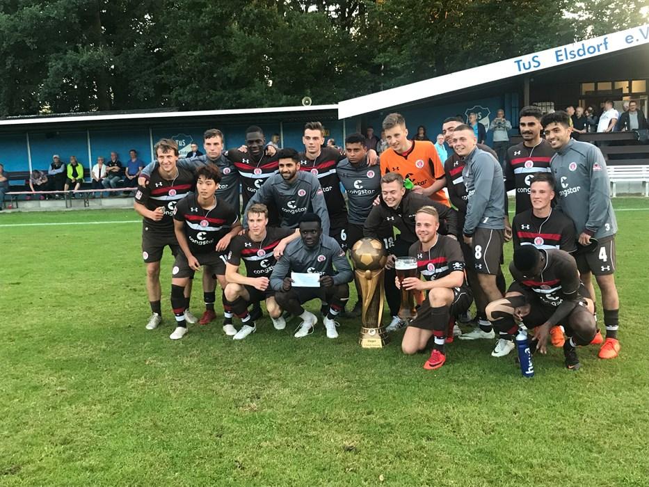 Guter Test: Die U23 gewann am 9. Juli im Endspiel gegen den Heeslinger SC die Elsdorfer Pokalwochen