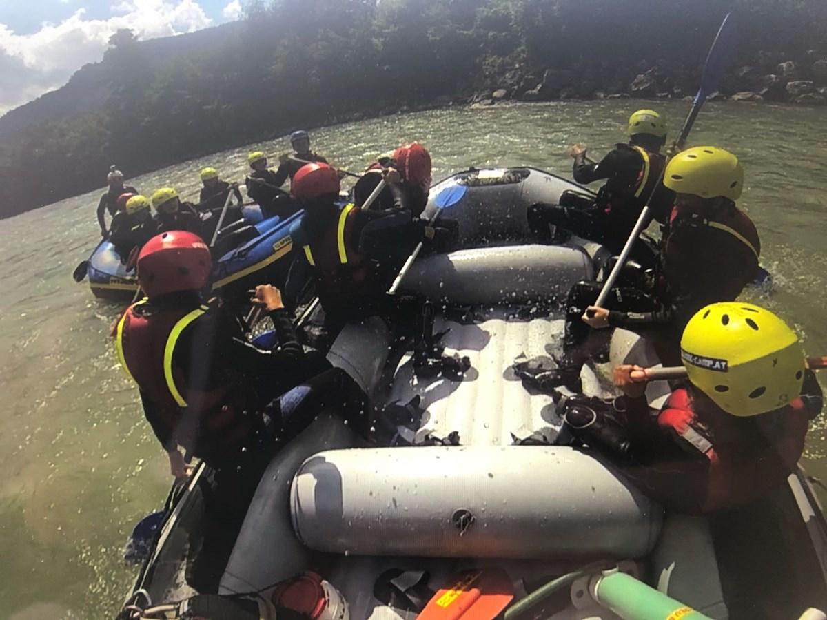 Rabauken beim Rafting in Lofer