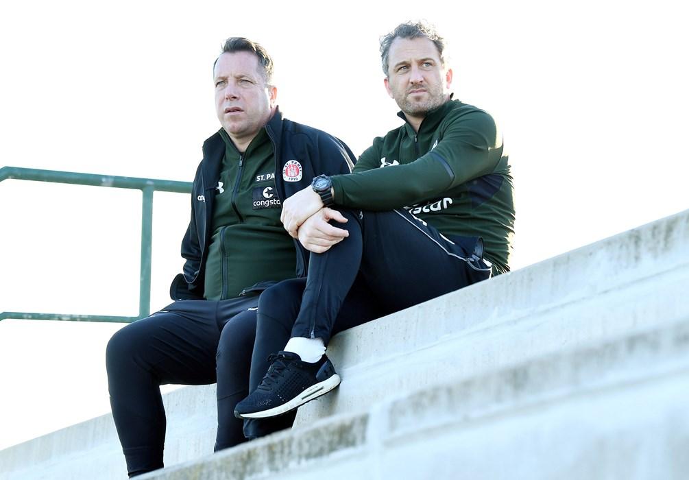 Profi-Cheftrainer Markus Kauczinski und NLZ-Leiter Roger Stilz.