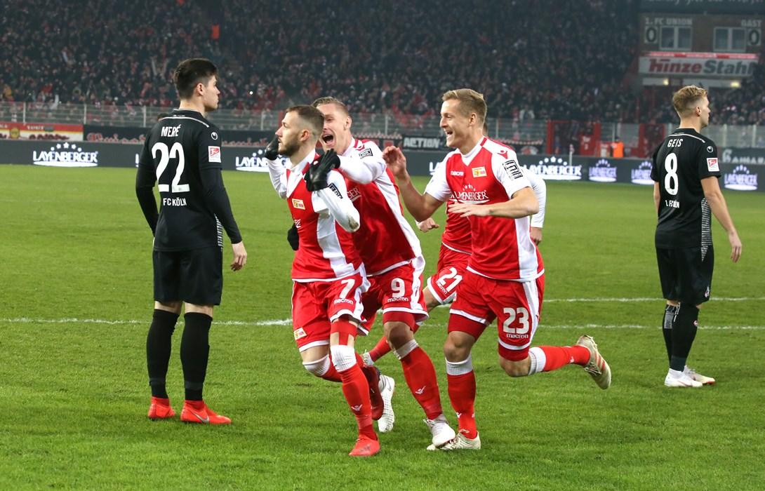 Nach seinem Traumtor verzichtete Marcel Hartel (Nr. 7) aus Respekt gegenüber Ex-Club Köln auf einen Torjubel.