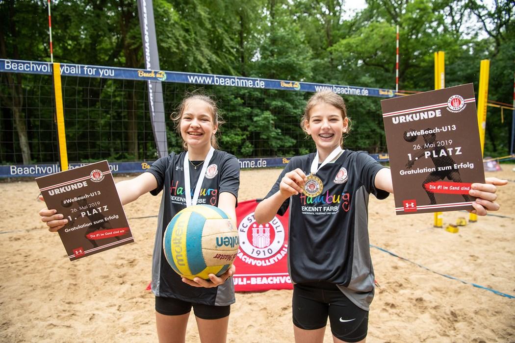 Charlotte und Liv gewannen das WeBeach-Event der Beachvolleyabteilung