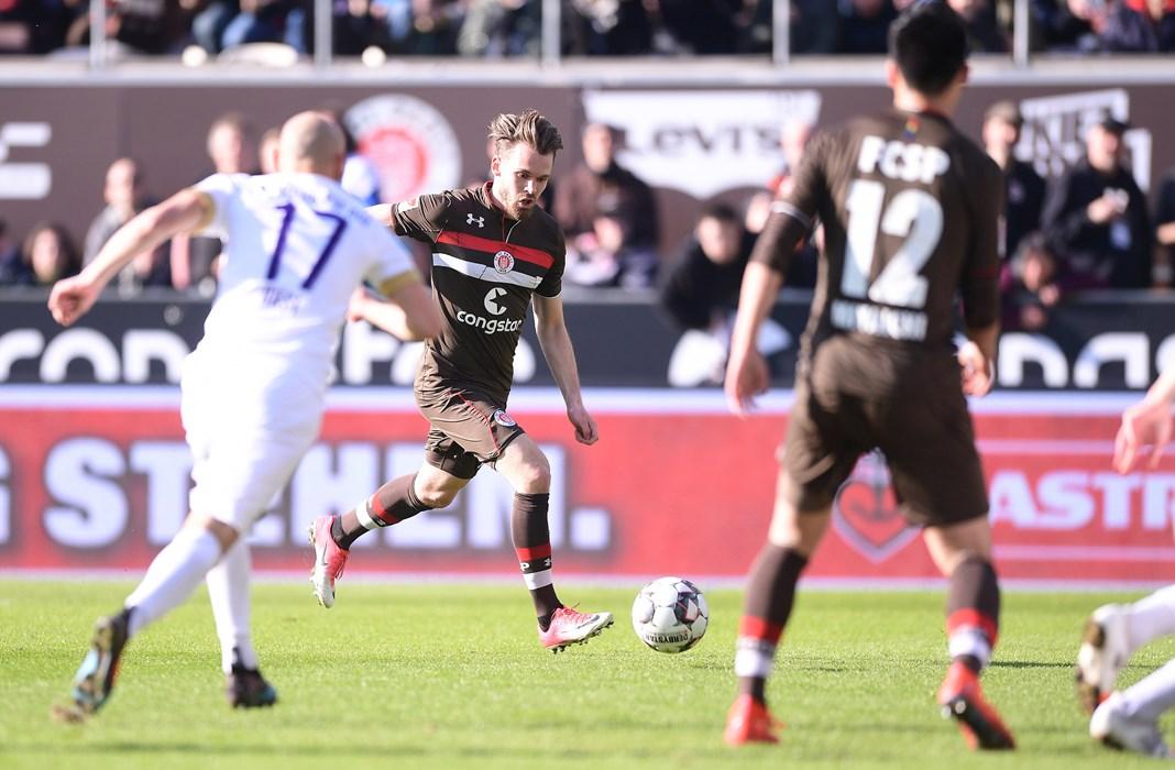Im Heimspiel gegen Erzgebirge Aue erzielte Christopher Buchtmann in Minute 10 die Führung für unsere Kiezkicker. Es war der schnellste Treffer in der Saison 2018/19.