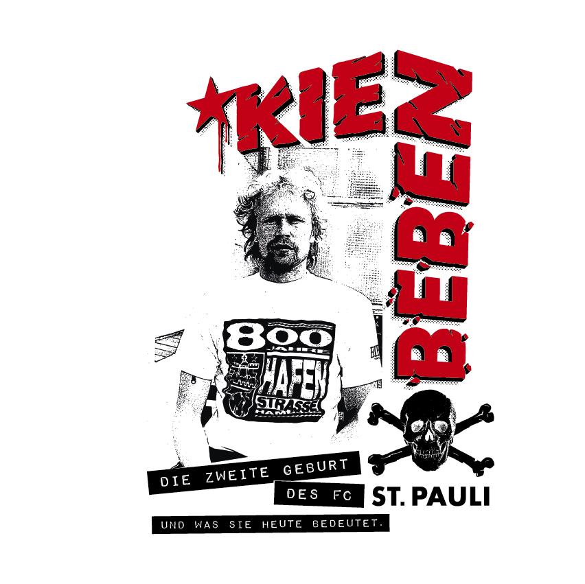 Ausstellungs-Plakat: Volker Ippig im Hafenstraßen-Shirt