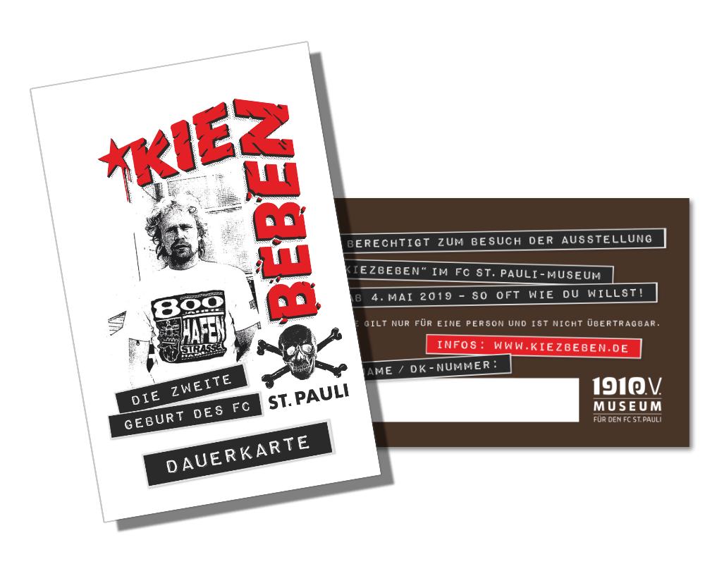 """Schick: Die Soli-Dauerkarte fürs KIEZBEBEN ermöglicht unbegrenzten Eintritt – und ist eine tolle Erinnerung an Volker """"Hör die Signale"""" Ippig."""