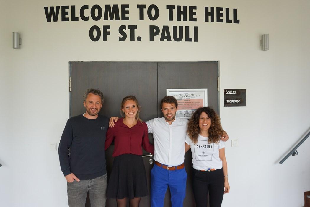 V.l.n.r.: Roger Stilz, Maire Junge, David Kunze und Stephanie Goncalves Norberto.
