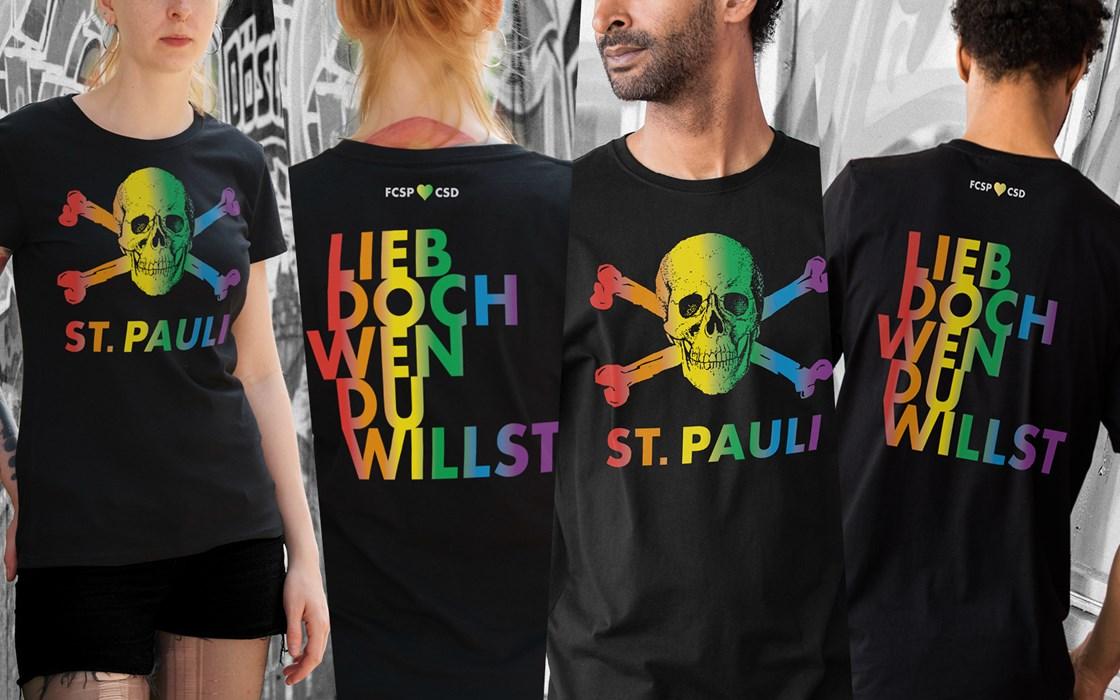 Mit den Einnahmen aus dem Verkauf des T-Shirt wird die Initiatve Queer Refugee Suppport unterstützt