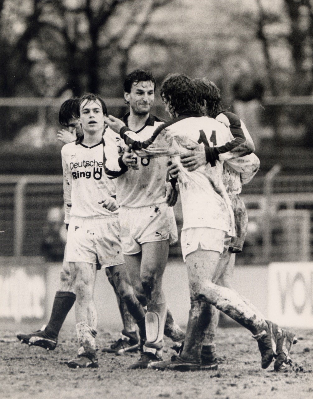 """Smells like team spirit: André Golke, Jürgen Roloff, Rüdiger """"Sonny"""" Wenzel und Michael Dahms (v.l.n.r.)."""