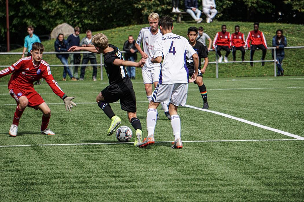 Guter Start: Gegen den VfL Osnabrück feierten unsere U15-Kiezkicker einen 4:2-Erfolg.