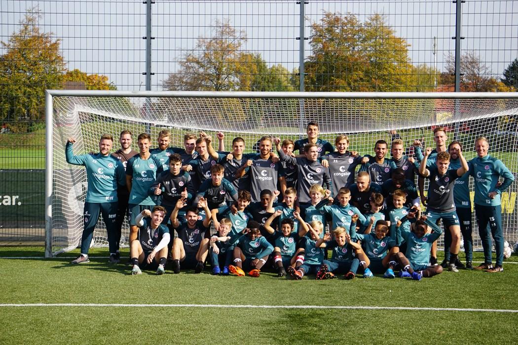 Abwechslungsreich: Unter der Woche trainierte die U19 gemeinsam mit ihrer Patenmannschaft U12.