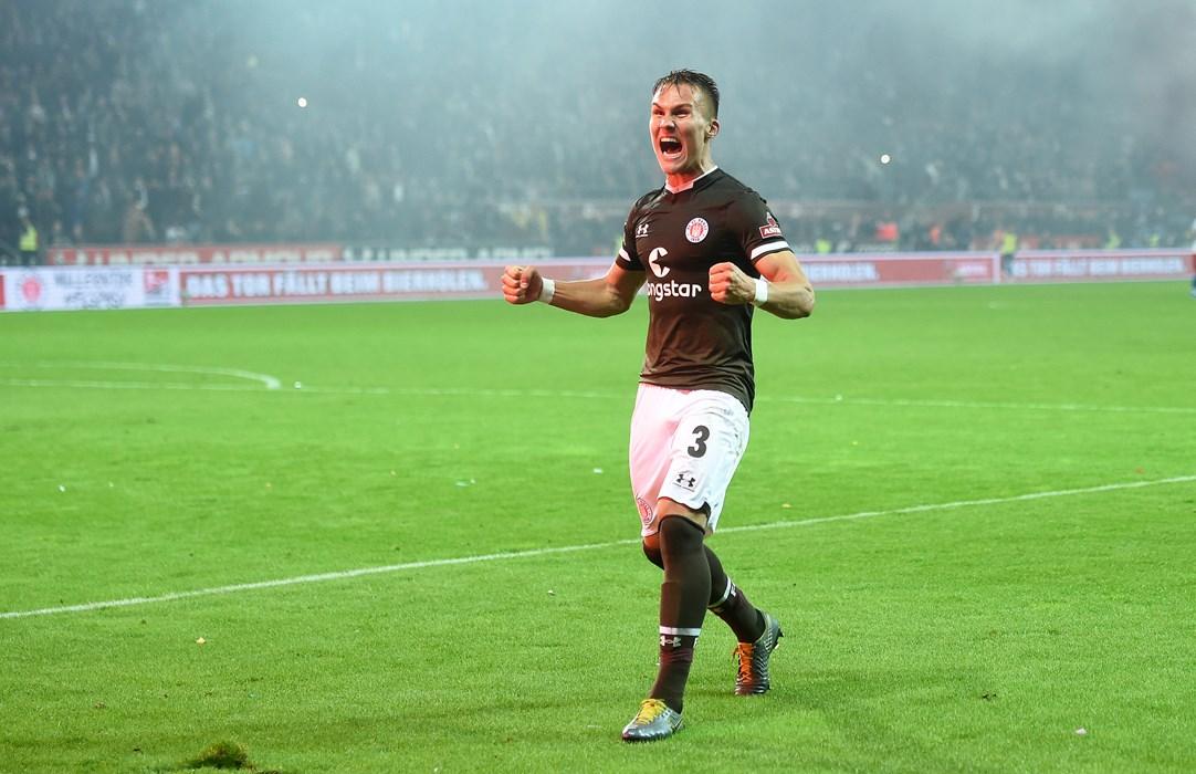 Leo Østigård screams with joy after victory in the derby!