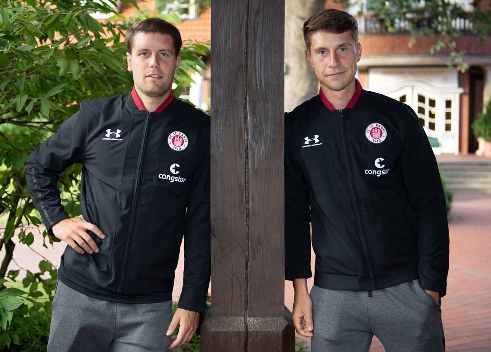 Unsere beiden Co-Trainer Fabian Hürzeler (li.) und Loïc Favé (re.) coachten je ein Team.