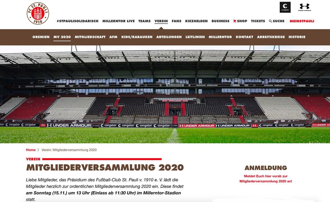 Die Info-Seite MV 2020 ist auf unserer Homepage unter Verein zu finden.
